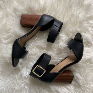 Chunky Black Pumps